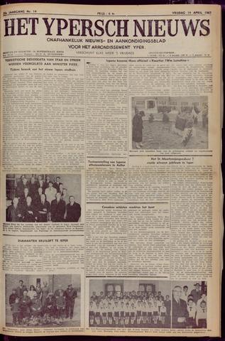 Het Ypersch nieuws (1929-1971) 1967-04-14