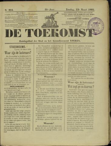 De Toekomst (1862 - 1894) 1892-03-13
