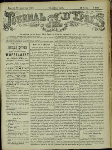 Journal d'Ypres (1874 - 1913) 1895-09-25