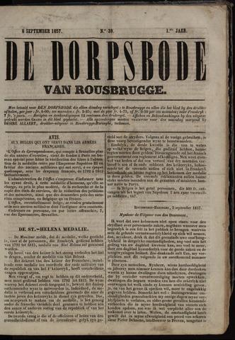 De Dorpsbode van Rousbrugge (1856-1857 en 1860-1862) 1857-09-08