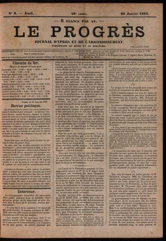 Le Progrès (1841-1914) 1888-01-26