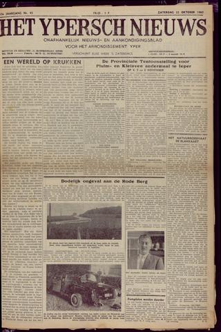 Het Ypersch nieuws (1929-1971) 1960-10-22