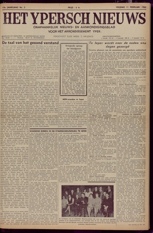 Het Ypersch nieuws (1929-1971) 1966-02-11