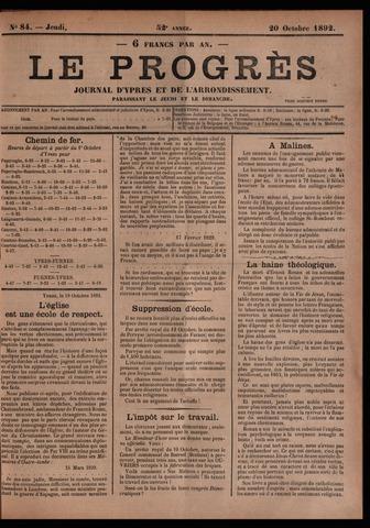 Le Progrès (1841-1914) 1892-10-20