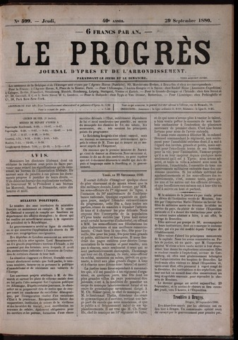 Le Progrès (1841-1914) 1880-09-29