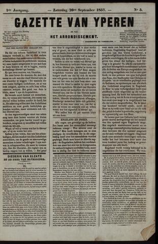 Gazette van Yperen (1857-1862) 1857-09-26