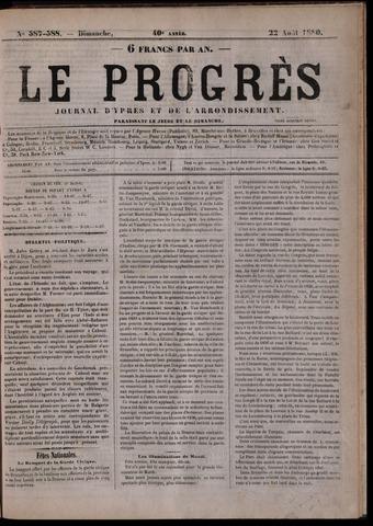 Le Progrès (1841-1914) 1880-08-22