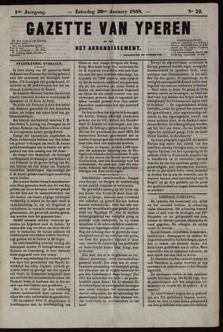 Gazette van Yperen (1857-1862) 1858-01-30