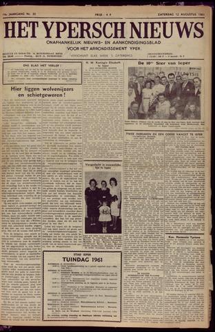 Het Ypersch nieuws (1929-1971) 1961-08-12