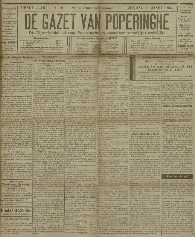 De Gazet van Poperinghe  (1921-1940) 1930-03-09