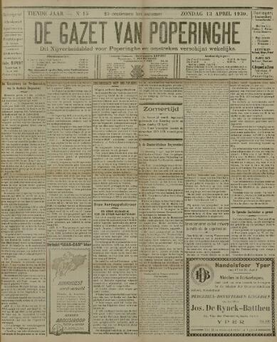 De Gazet van Poperinghe  (1921-1940) 1930-04-13