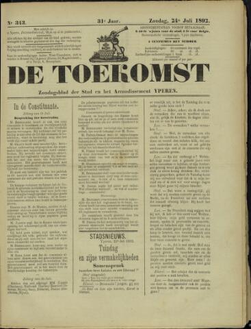 De Toekomst (1862 - 1894) 1892-07-24