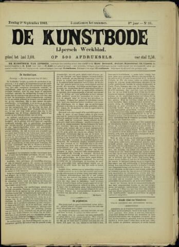 De Kunstbode (1880 - 1883) 1882-09-03