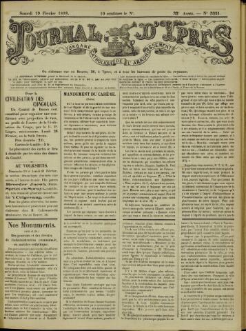 Journal d'Ypres (1874 - 1913) 1898-02-19
