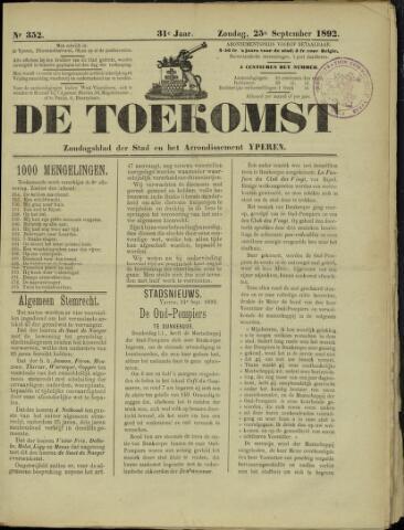 De Toekomst (1862 - 1894) 1892-09-25