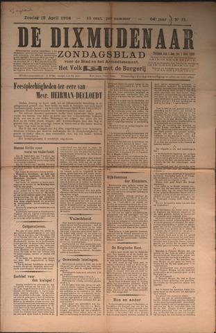 De Dixmudenaar 1908-04-12