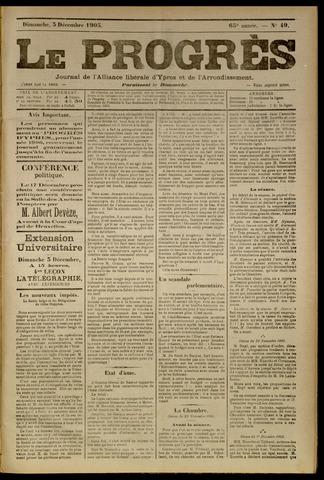 Le Progrès (1841-1914) 1905-12-03