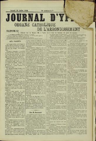 Journal d'Ypres (1874 - 1913) 1906-07-28