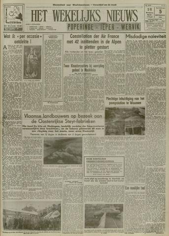 Het Wekelijks Nieuws (1946-1990) 1953-09-05