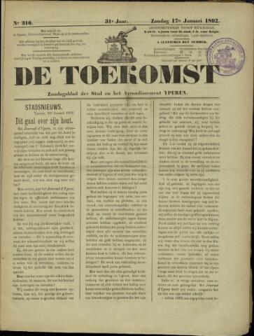 De Toekomst (1862 - 1894) 1892-01-17