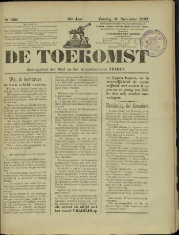 De Toekomst (1862 - 1894) 1892-11-06