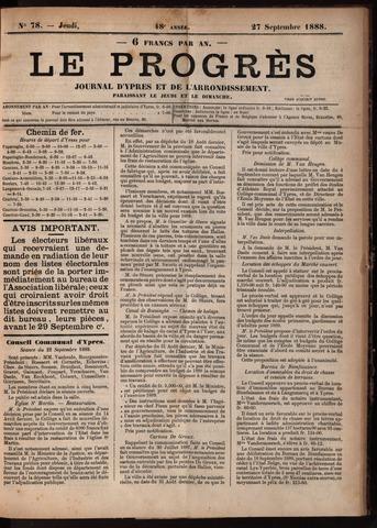 Le Progrès (1841-1914) 1888-09-27