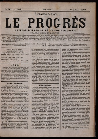 Le Progrès (1841-1914) 1880-10-07