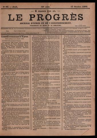 Le Progrès (1841-1914) 1892-10-13