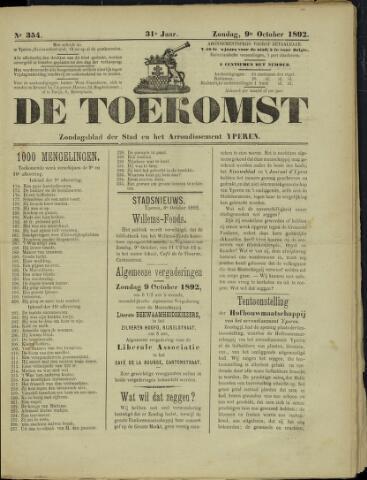 De Toekomst (1862 - 1894) 1892-10-09