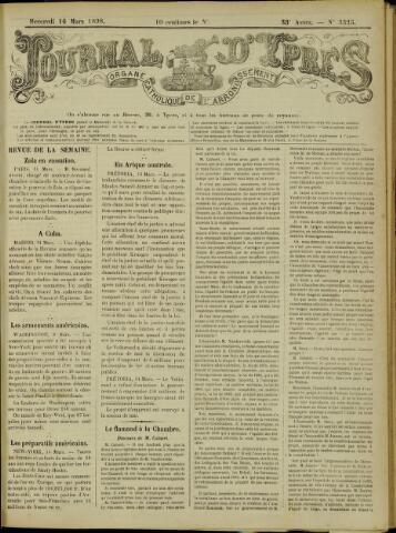 Journal d'Ypres (1874 - 1913) 1898-03-16