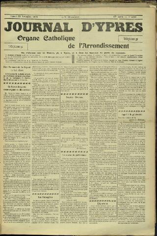 Journal d'Ypres (1874 - 1913) 1912-11-23