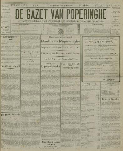 De Gazet van Poperinghe  (1921-1940) 1922-01-01