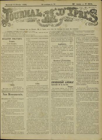 Journal d'Ypres (1874 - 1913) 1898-02-02