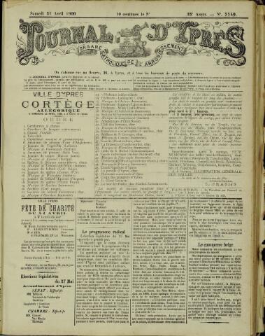 Journal d'Ypres (1874 - 1913) 1900-04-21