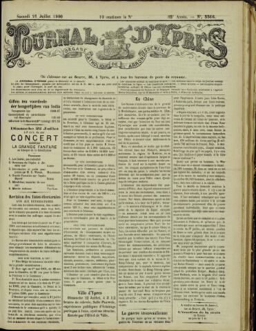 Journal d'Ypres (1874 - 1913) 1900-07-21