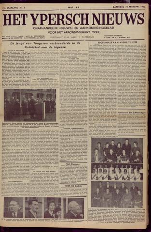 Het Ypersch nieuws (1929-1971) 1962-02-10