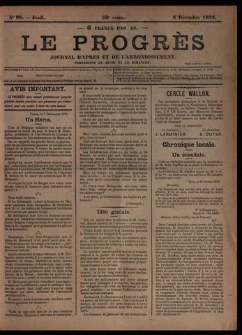 Le Progrès (1841-1914) 1892-12-08