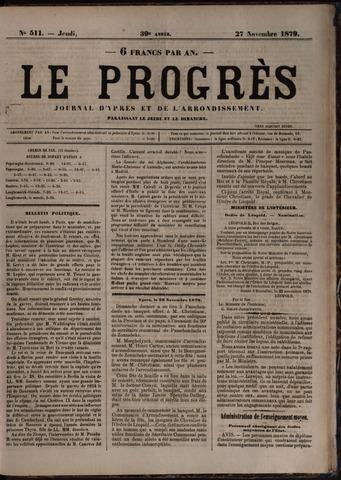Le Progrès (1841-1914) 1879-11-27