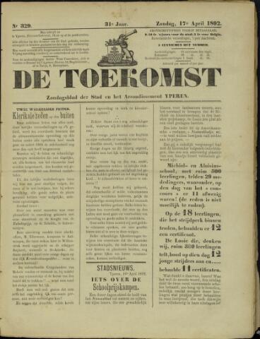 De Toekomst (1862 - 1894) 1892-04-17