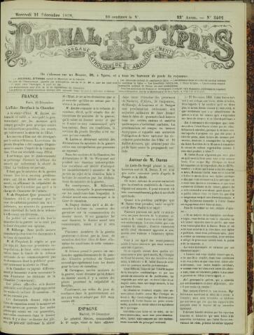 Journal d'Ypres (1874 - 1913) 1898-12-21