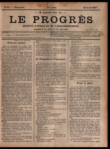 Le Progrès (1841-1914) 1897-08-22
