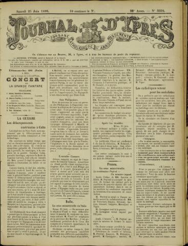 Journal d'Ypres (1874 - 1913) 1898-06-25