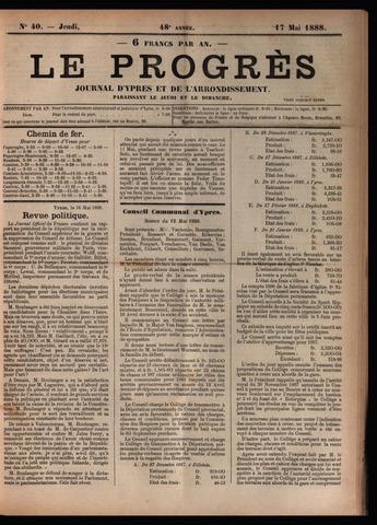 Le Progrès (1841-1914) 1888-05-17