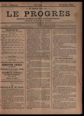 Le Progrès (1841-1914) 1892-10-30