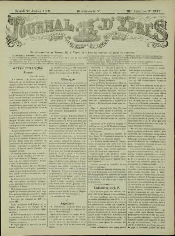 Journal d'Ypres (1874 - 1913) 1899-01-21