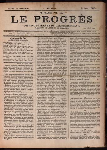 Le Progrès (1841-1914) 1888-08-05