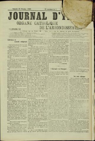 Journal d'Ypres (1874 - 1913) 1906-10-13