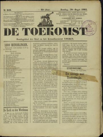 De Toekomst (1862 - 1894) 1892-08-28