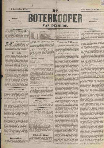 De Boterkoper 1881-12-07