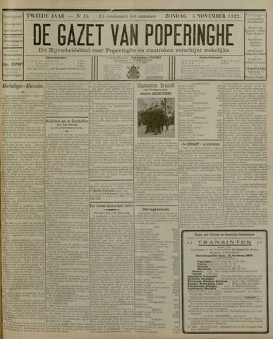 De Gazet van Poperinghe  (1921-1940) 1922-11-05
